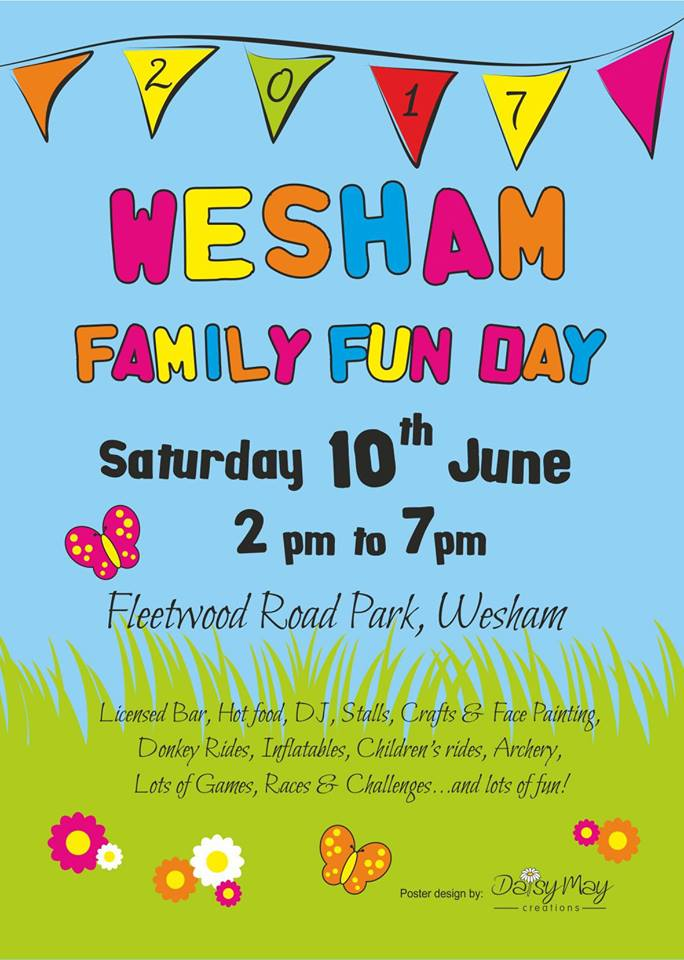Wesham Fun Day – June 10th – help us promote the day :)