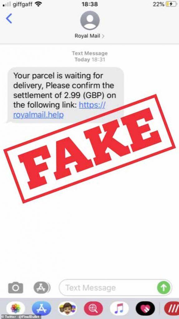 Suspicious Royal Mail Text Message
